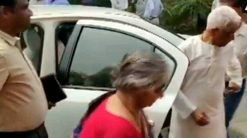 WATCH: Nirmala Sitharaman's  parents arrive at Parliament for Budget 2019