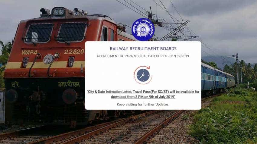 RRB Paramedical recruitment: Looking for Railways recruitment exam date, city, travel pass details? Declaration today