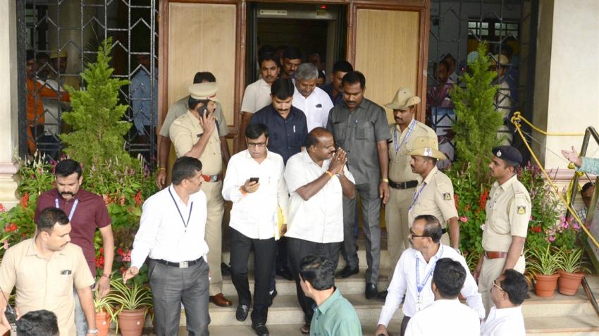Karnataka floor test: BJP legislators stage protest sleep in Assembly
