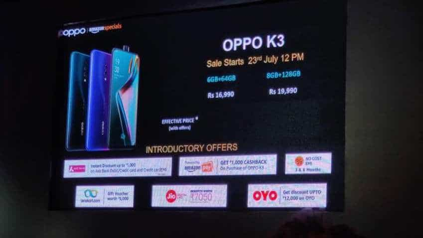 Oppo K3 launched in India with selfie pop-up camera, in-display fingerprint scanner; check price