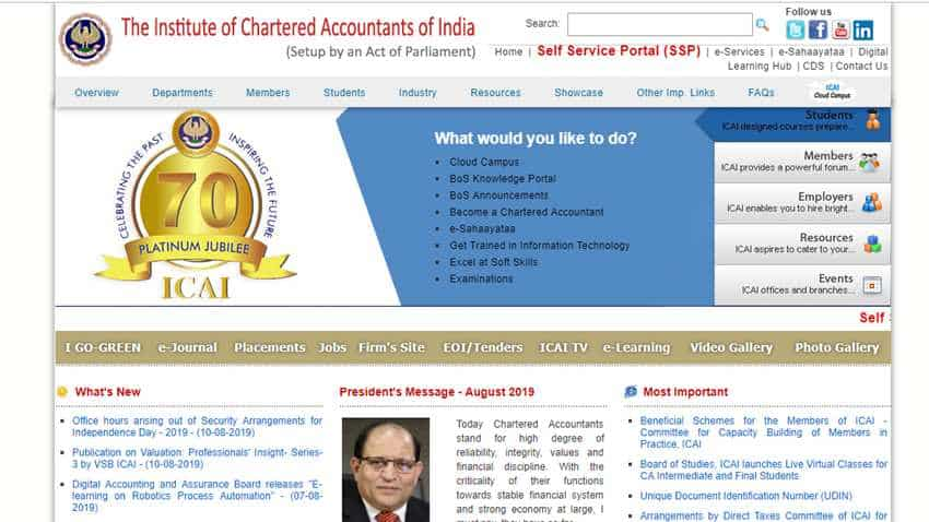 ICAI CA result 2019: Final, Foundation result out shortly at