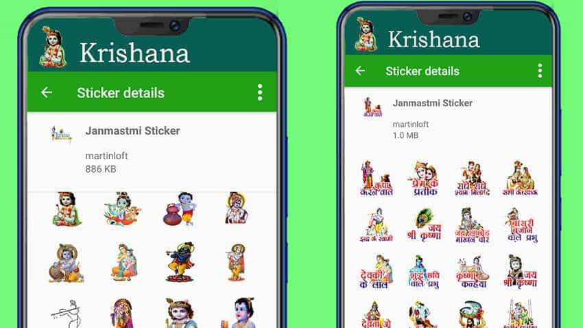 Janmashtami WhatsApp stickers: How to download and send