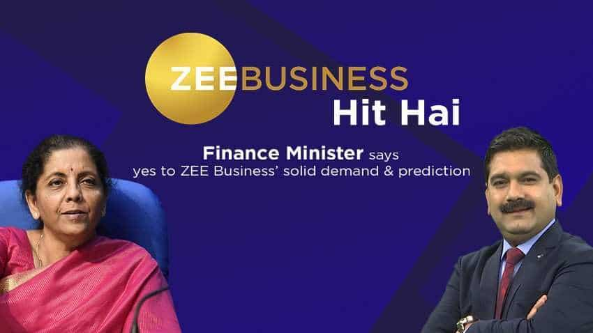 Zee Business Hit Hai: Sensex 928 points up, Nifty gains 273 points after Nirmala Sitharaman's corp tax cuts