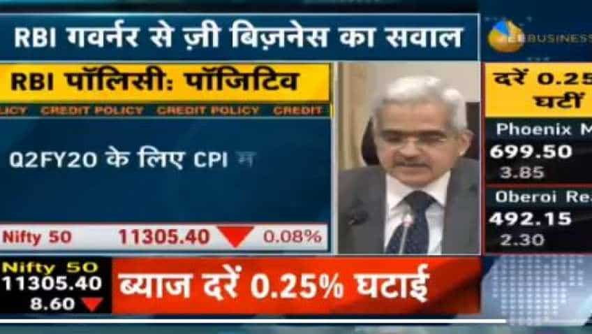 Why RBI repo rate cut by only 25 bps, asks Zee Business; Governor Shaktikanta Das said this