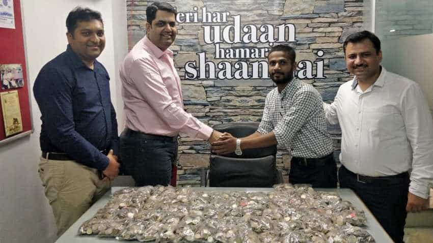 SPECIAL DIWALI and DHANTERAS! This man purchased new Honda Activa with full payment done in coins