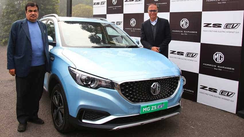 MG ZS EV: When Nitin Gadkari drove India's 1st Pure Electric Internet SUV