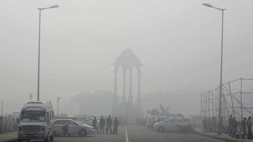Fog covers partial solar eclipse in Delhi