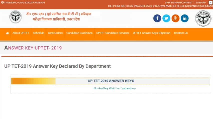 UPTET Official Answer Key 2019 to be released on 14th January 2020; here's how to download
