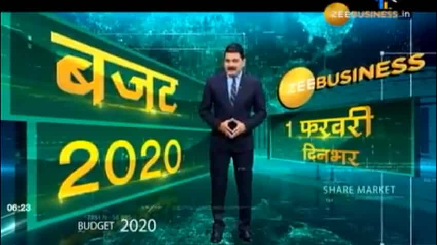 Catch all the Budget 2020 action on Zee Business with Anil Singhvi and top market experts on February 1