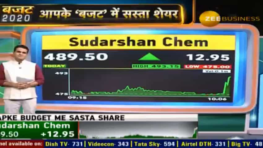 Budget 2020 My Pick: Keep an eye on this chemical stock for great returns