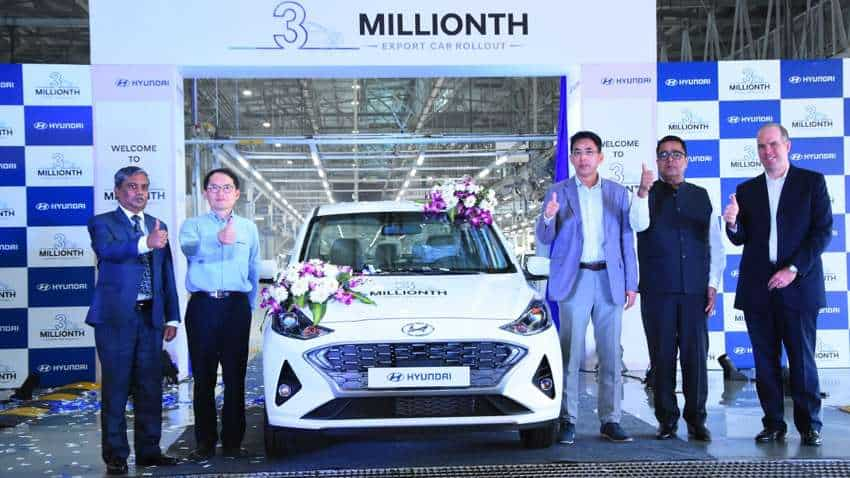 Big feat! Hyundai rolls out fastest 3 millionth 'Made-in-India' export car - AURA