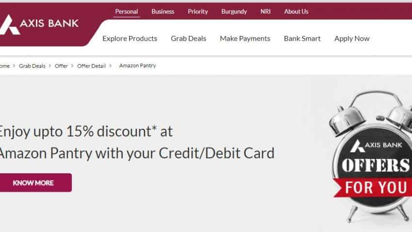 Axis Bank debit card, credit card users alert! Get up to 15% discount at Amazon