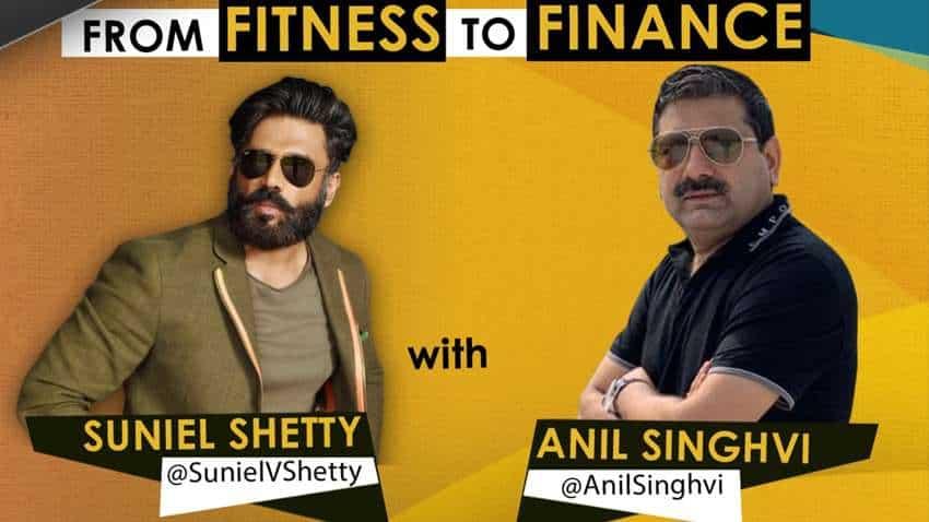 #StarsOnZeeBusiness: From finance to fitness! Market guru Anil Singhvi chats with Bollywood star Suniel Shetty - WATCH FULL VIDEO
