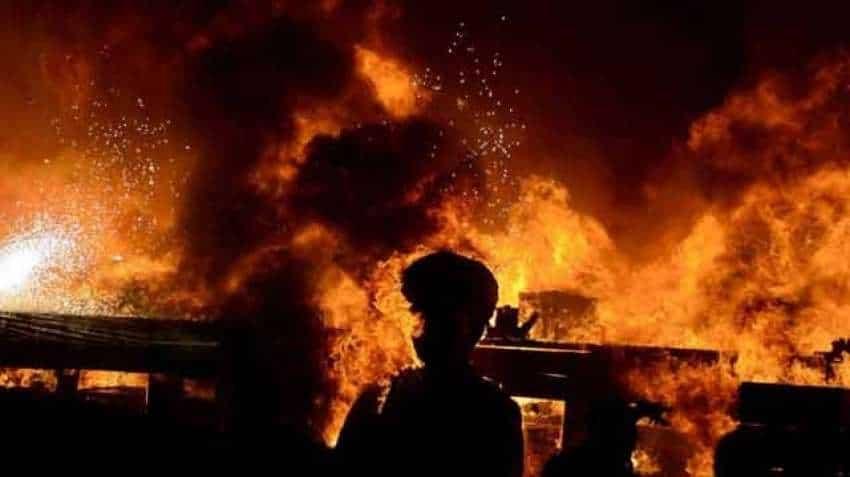 Massive fire at Delhi slum in Tughlaqabad area, 250 shanties gutted