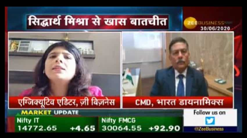 Bharat Dynamics likely to get orders worth Rs 12,000 crore in FY21: Siddharth Mishra, CMD