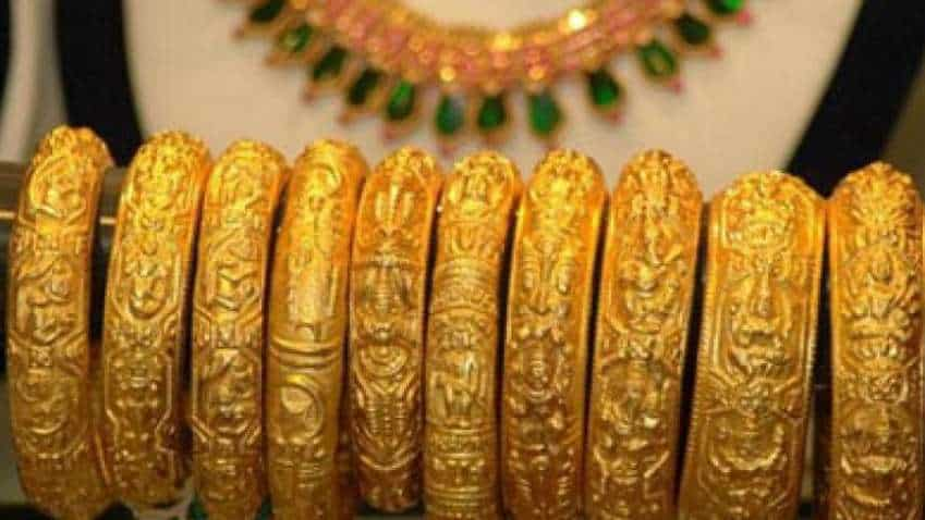 Gold eases off near eight-year peak after solid US data