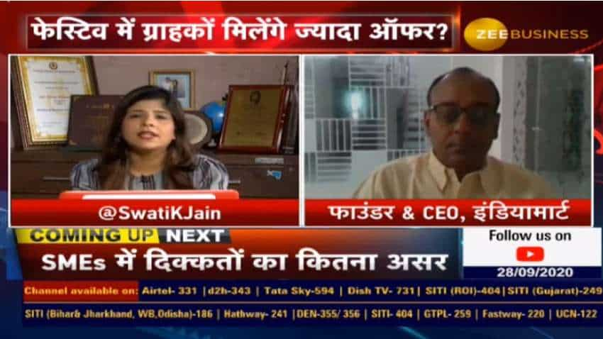 There is a significant improvement in traffic & industries are opening-up: Dinesh Agarwal, IndiaMART