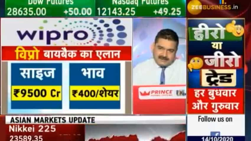 On Wipro buyback, Zee Biz hits bull's eye; Anil Singhvi says size small in terms of amount