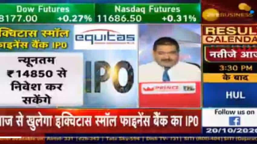 Equitas Small Finance Bank IPO Details: Market Guru Anil Singhvi says avoid