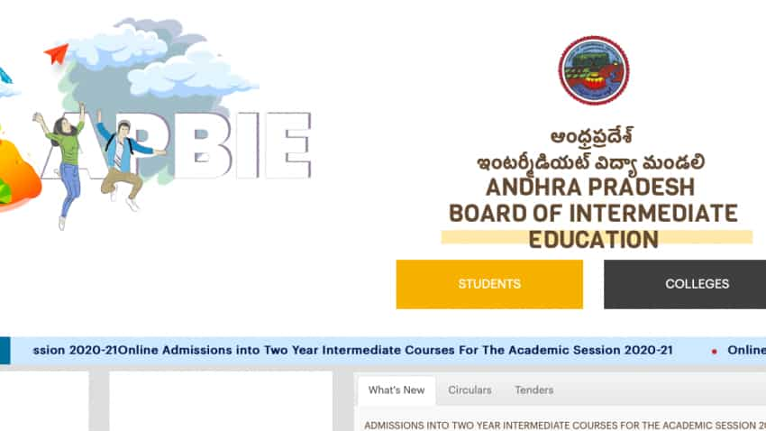 AP Inter Admission 2020: BIEAP to begin online admission process today at bie.ap.gov.in, no academic certificates needed