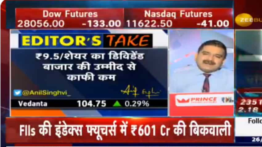 Vedanta announces Rs 9.5 dividend; Check out Market Guru Anil Singhvi's strategy to trade in this stock