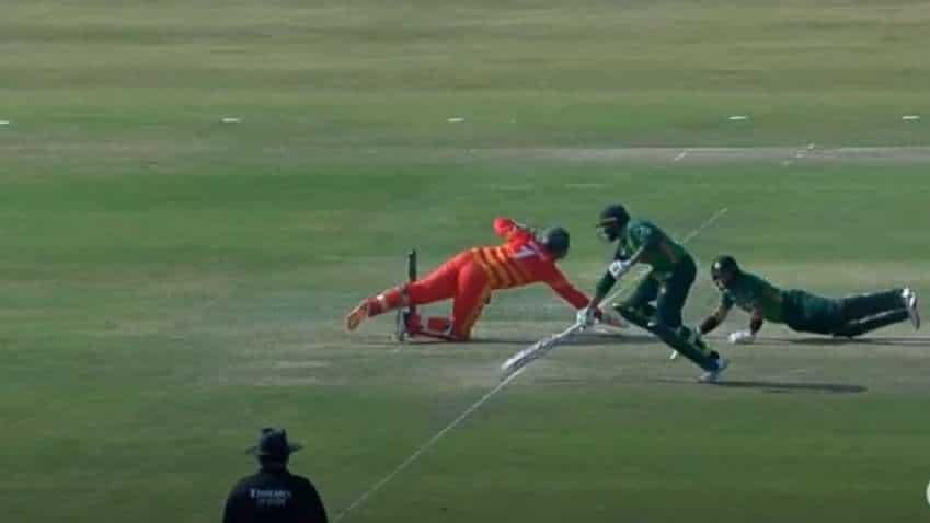 Some things don't change! Pakistan batsmen Harris Sohail, Imam Ul Haq end up on striker's end; get hilariously run out