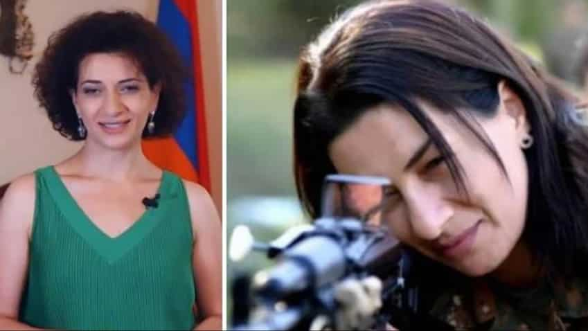 Now, Armenian PM's wife Anna Hakobyan does the unthinkable, picks up gun to fight in war against Azerbaijan in Nagorno-Karabakh