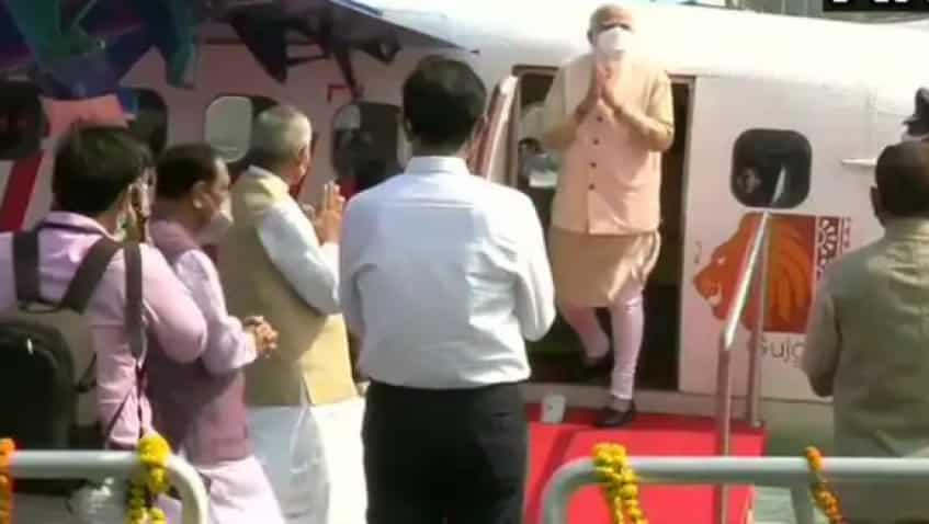 PM Narendra Modi inaugurates seaplane service, boards first flight to Sabarmati
