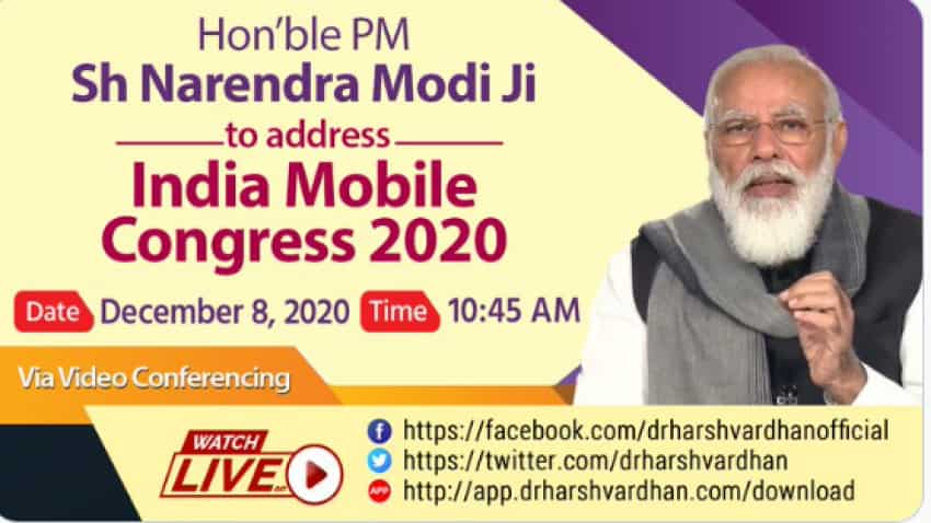 """India Mobile Congress 2020: PM Modi says, """"Let us work together to make India a global hub of telecom equipment, design, devp and manufacturing"""""""