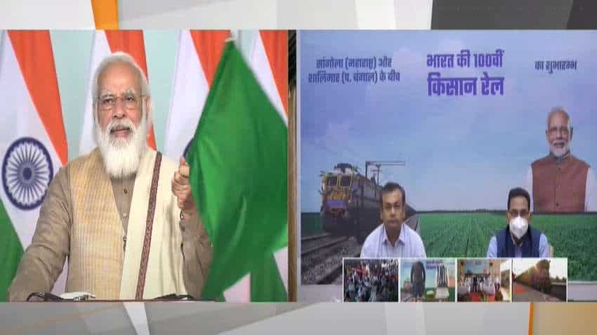 PM Narendra Modi flags off 100th Kisan Rail - Multi-commodity train, no bar on consignment size!