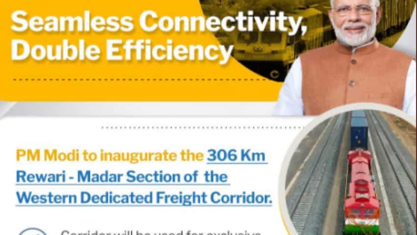 Rewari-Madar section freight corridor inauguration: PM Narendra Modi to dedicate the new stretch, world's first double stack container train to nation today