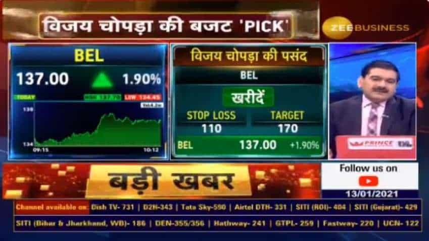 Budget 2021 Stock Picks With Anil Singhvi: Buy BEL shares for MASSIVE profit, says Vijay Chopra of Enoch Ventures