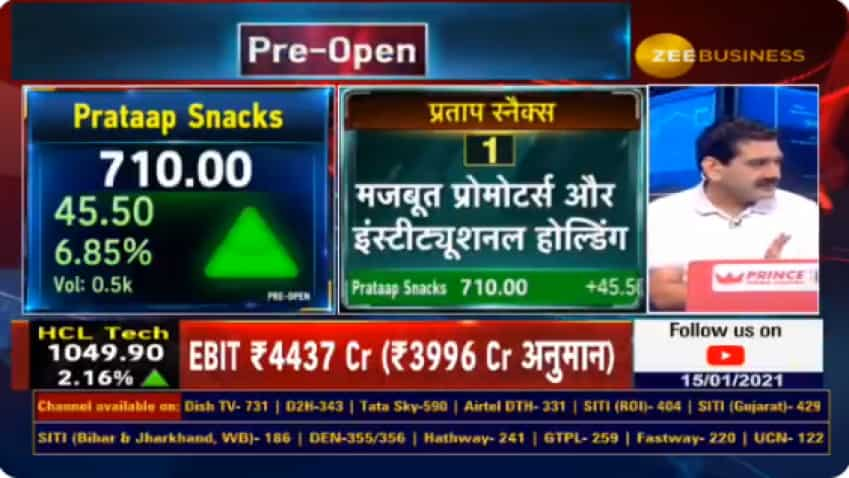 Budget 2021 Stocks With Anil Singhvi - Prataap Snacks is a stock to buy, says Market Guru; popular brands are Yellow Diamond, Rich Feast and Avadh Snacks