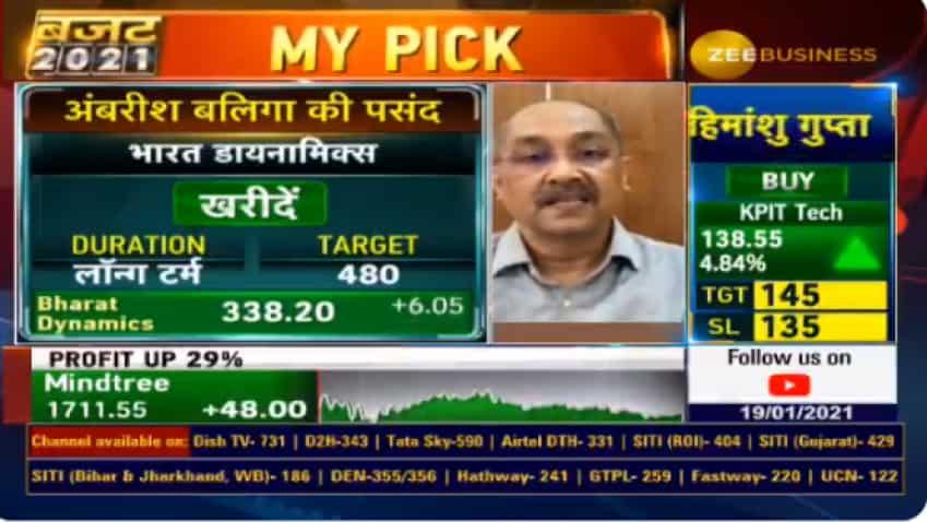Budget 2021 Stock Picks: Bharat Dynamics is a top stock for good returns, says Ambareesh Baliga