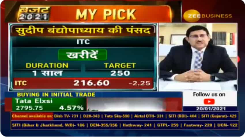 Budget 2021 Stocks With Anil Singhvi – ITC share is a top BUY says expert Sudip Bandyopadhyay; Gives major triggers