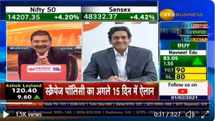In chat with Anil Singhvi, IIFL Chairman Nirmal Jain says Budget 2021 proposals are excellent news for the market
