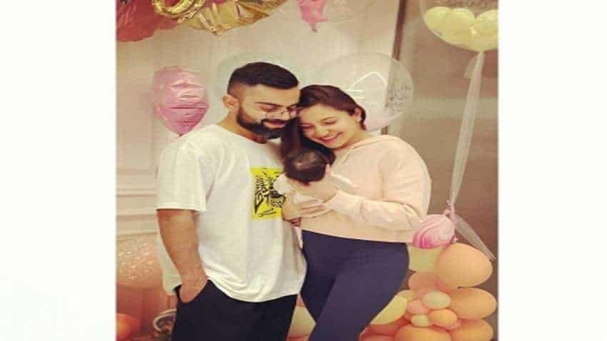 Virat Kohli, Anushka Sharma share pic of daughter Vamika on Instagram; Kohli says 'My whole world in one frame'   Fans flood Twitter with wishes
