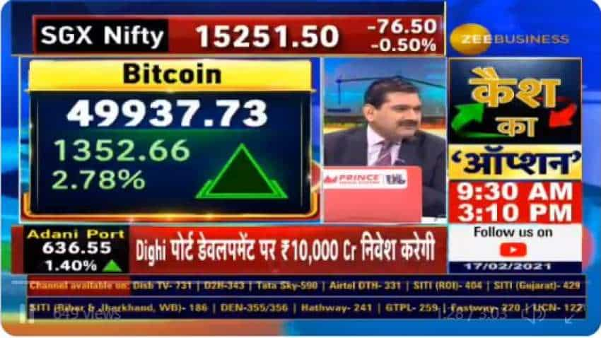 Tips! Bitcoin price hits $50,000 mark; one sided buying or selling not a correct strategy to invest in any asset class, Anil Singhvi says