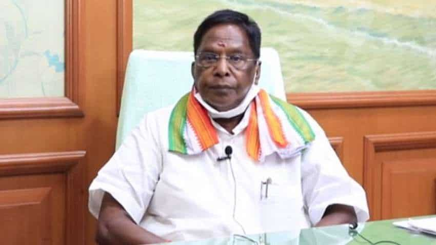 Puducherry CM resigns as Cong-led govt falls ahead of floor test (Ld)