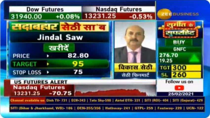 In chat with Anil Singhvi, analyst Vikas Sethi picks Jindal Saw, REC as top buys for big short term gains