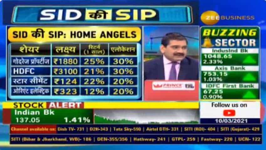 Stocks to Buy with Anil Singhvi: Godrej Properties, HDFC, Star Cement, Orient Electric are top buys, suggests analyst Siddharth Sedani
