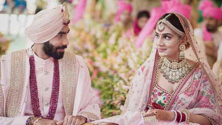 Image: Jasprit Bumrah Instagram page Indian pacer Jasprit Bumrah marries Sanjana Ganesan