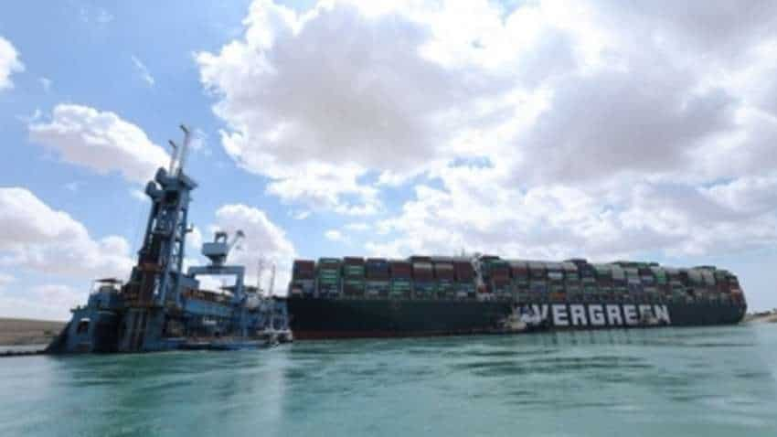 Efforts on to refloat container ship stuck in Suez Canal
