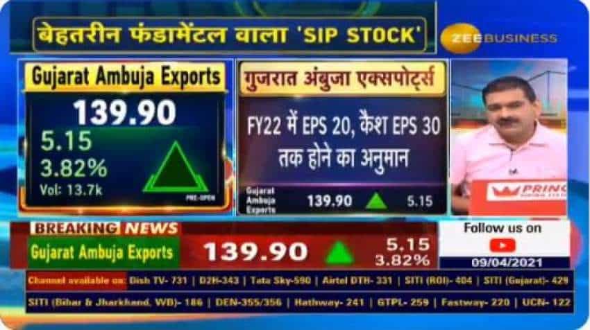 SIP Stock with Anil Singhvi: Gujarat Ambuja Exports available at attractive valuations; Market Guru says growth outlook STRONG
