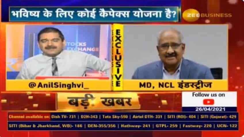 In chat with Anil Singhvi, NCL Industries MD K Ravi says no Covid-19 impact on operations so far