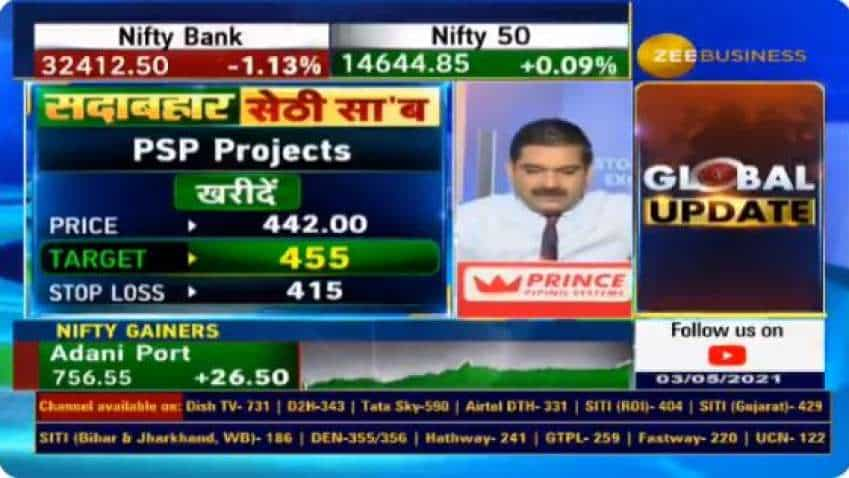 In chat with Anil Singhvi, analyst Vikas Sethi recommends PSP Projects, Ambuja Cements as top buys for big gains