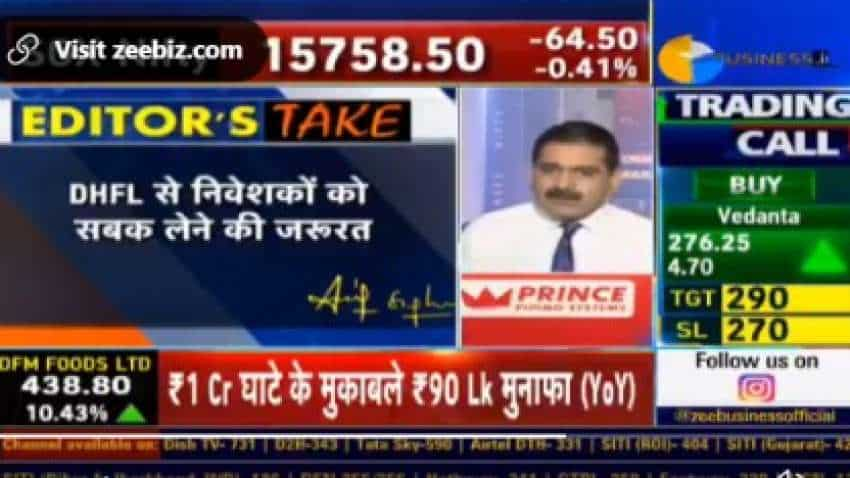 DHFL trading suspension: Anil Singhvi says a BIG LESSON for investors, urges them to be cautious with stressed companies
