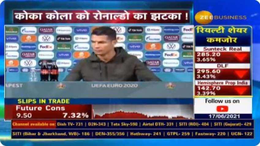 How a 'SOLID FREE KICK' jolt by Cristiano Ronaldo cost Coca-Cola USD 4 billion - Check INTERESTING REPORT