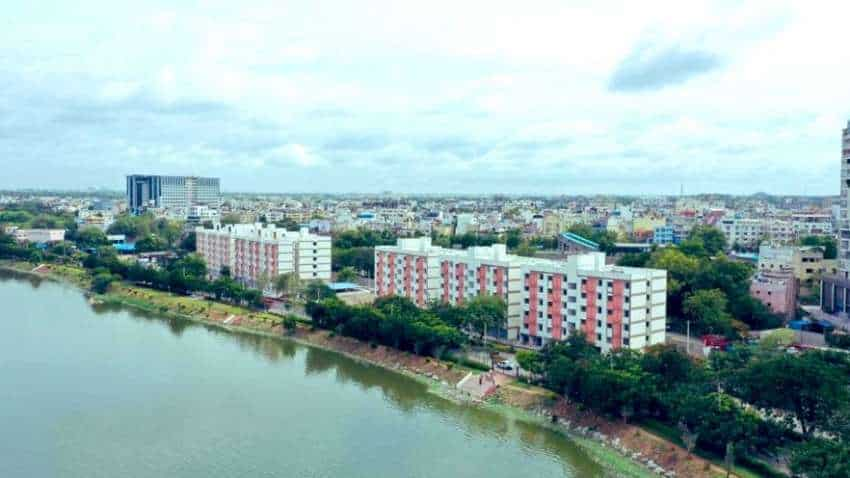 2BHK houses for poor with lake view come up in Hyderabad