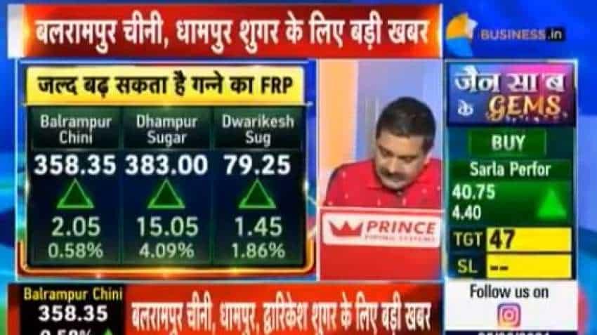 Big News for Dhampur Sugar, Dwarikesh Sugar, Balrampur Chini and other sugar stocks! FRP HIKE talks begin! Good news or bad News? —Anil Singhvi explains